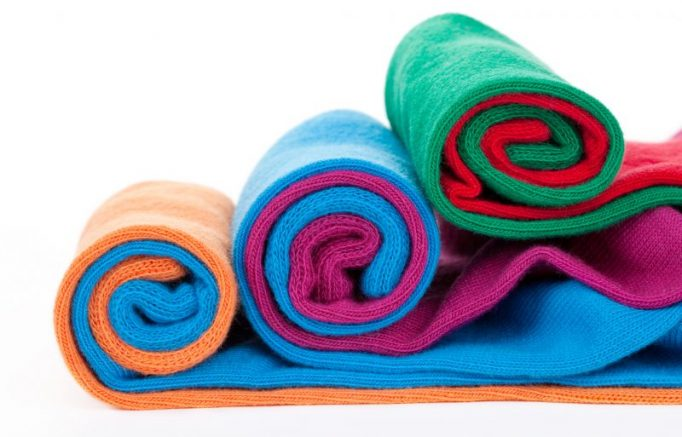 Three color socks rolls